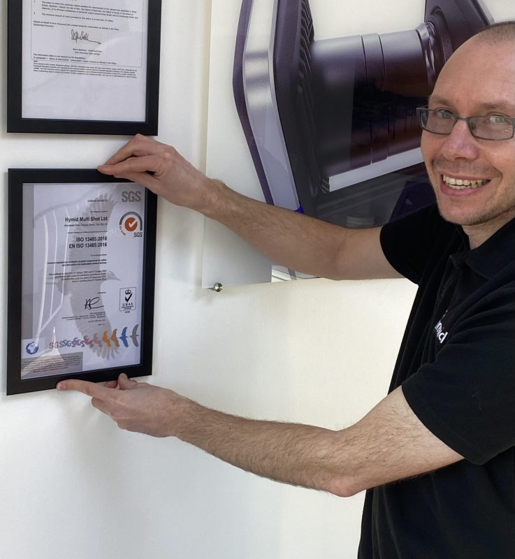 Tony with medical devices standard certificate